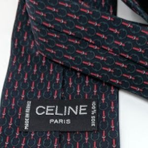 Classic and vintage Celine silk tie made in France